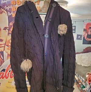 American Eagle Fur Hoodie